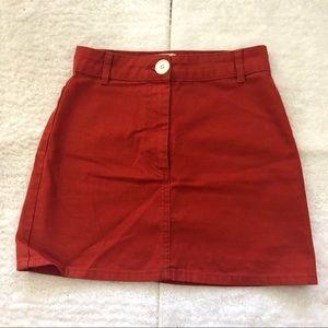 Urban outfitters BDG red denim skirt